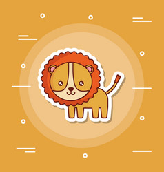 cute lion icon image vector image