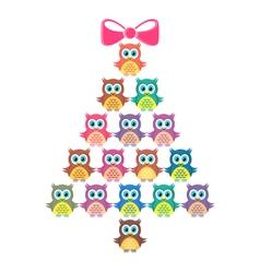Cute merry christmas card vector image