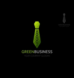 Eco business logo template vector image