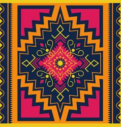 Ethnic seamless pattern tribal kilim aztec vector