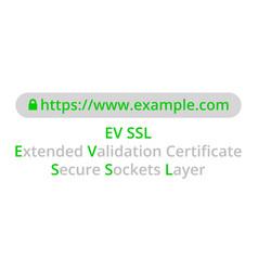 ev ssl concept vector image