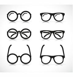 Eye glasses silhouette icon vector