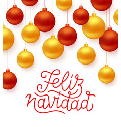 Feliz navidad greeting card design vector