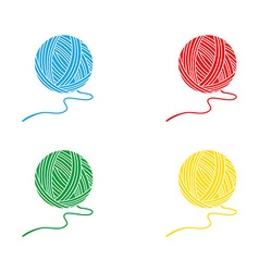 Four yarn balls vector image