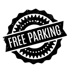 Free Parking rubber stamp vector