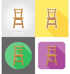 furniture flat icons 09 vector image