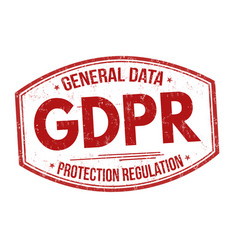 general data protection regulation sign or stamp vector image