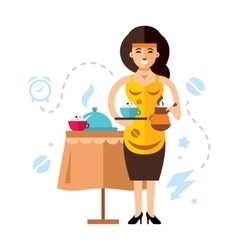 Girl and coffee Flat style colorful vector