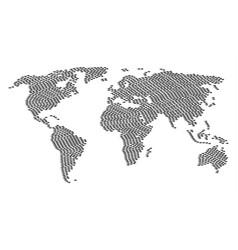 global atlas mosaic of fish items vector image