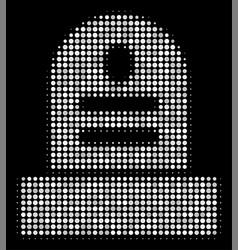 Grave halftone icon vector