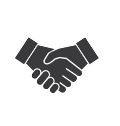 Handshaking logo icon business agreement vector