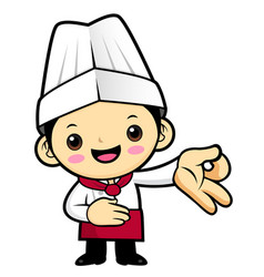 happy cook character money gestures isolated on vector image