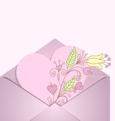 Heart in envelope vector