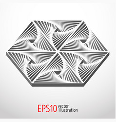 hexagonal 3d design sacral geometry mystery shape vector image