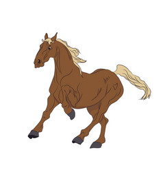 horse running color vector image