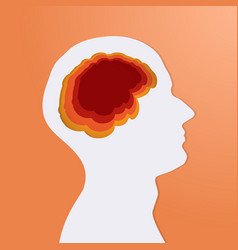 human head white with brain creative silhouette vector image
