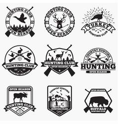 Hunt 2 logo badge vector
