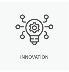 innovation line icon on white background vector image