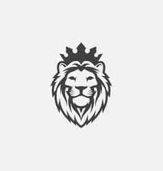 lion logo icon head logo vector image