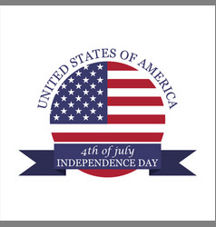 Logo 4th july independence day vector