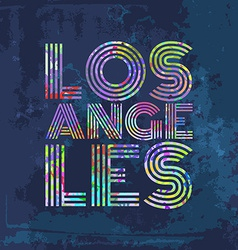 Los Angeles - Artwork for wear in custom colors vector image