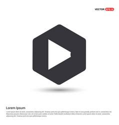loudspeaker icon hexa white background icon vector image