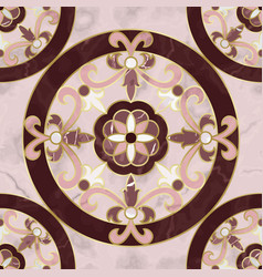 Luxury pink marble mosaic classic seamless pattern vector