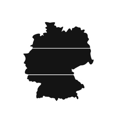 Map of Germany icon vector image