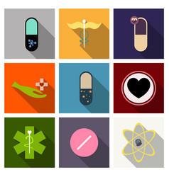 Medicine pharmacy hospital set drugs vector