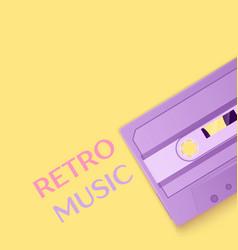 Painted retro purple cassette tapes vector