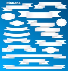 paper ribbon banners and labels vector image