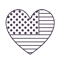 Patriotic heart isolated icon design vector