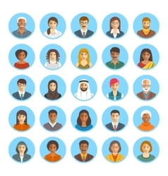 People faces avatars flat icons vector