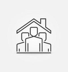 people under house ro line stay home vector image