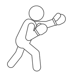Person fight boxing icon vector image