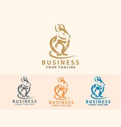 Rat logo design vector