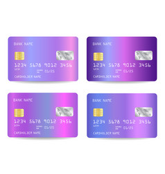 realistic detailed credit cards with vector image