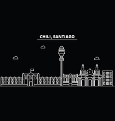 Santiago de chile silhouette skyline santiago de vector