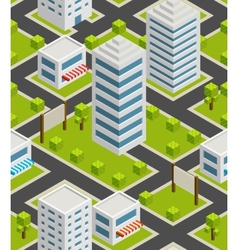 Seamless background city Isometric vector