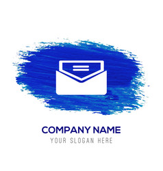 Send mail icon - blue watercolor background vector