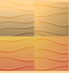 Set of backgrounds waves of sand vector
