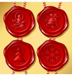 set of christmas sealing wax vector image