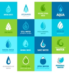 Set of water icons vector image