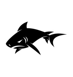 shark logo design badge isolated template vector image