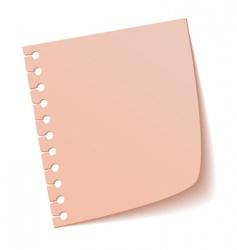 sheet of notebook pink vector image