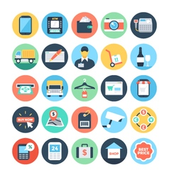 Shopping Icons 4 vector image