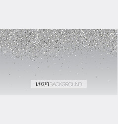 Silver glitter falling down shining sparkle vector