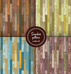 Sketch set of wooden patterns vector image
