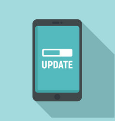 Smartphone update icon flat style vector