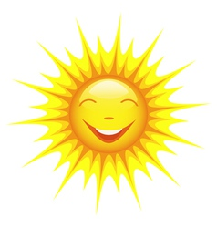 Smiling cute sun cartoon vector